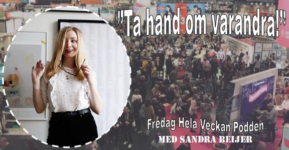 Porträtt Sandra Beijer; kollage & bakgrund Alice Nylander